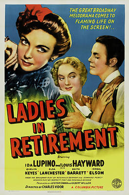 Travel - Ladies in Retirement, with Ida Lupino and Louis Hayward, 1941 by Stars on Art