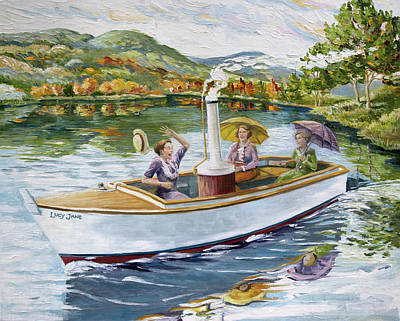 Painting - Ladies on the Steamboat by Paula McHugh