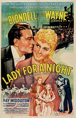 Advertising Archives - Lady for a Night 1942 by Stars on Art