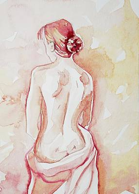 Target Threshold Watercolor - Lady In Pink #2 by Luisa Millicent