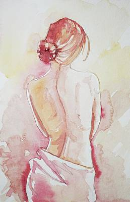 Target Threshold Watercolor - Lady in Pink by Luisa Millicent