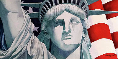 Painting - Lady Liberty by Brenda Jiral