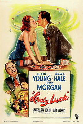 Mixed Media Royalty Free Images - Lady Luck, with Robert Young and Barbara Hale, 1946 Royalty-Free Image by Stars on Art