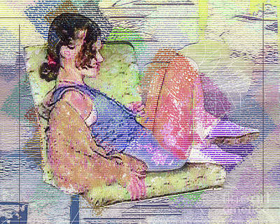 Vintage Signs - Lady Reclining by Anthony Ellis