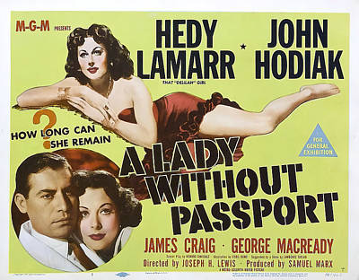 Royalty-Free and Rights-Managed Images - Lady Without Passport, with Hedy Lamarr, 1950 by Stars on Art