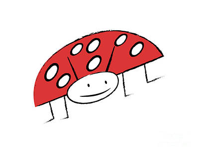 Drawings Royalty Free Images - Ladybug Royalty-Free Image by Michal Boubin
