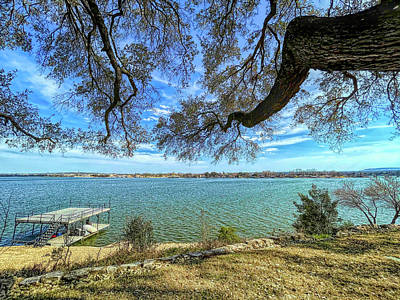 Popstar And Musician Paintings - Lake Granbury View by Judy Vincent