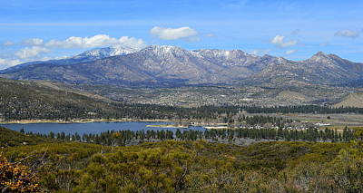 Abstract Animalia - Lake Hemet And The San Jacinto Mountains by Glenn McCarthy