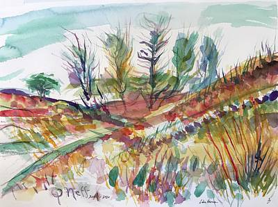 Painting - Lake Heron 3 by Glen Neff