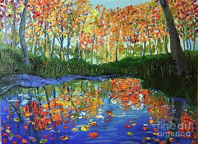 Painting - Lake in Autumn by Pam Fries