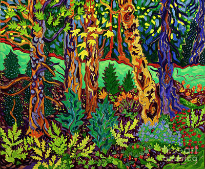 Painting - Lake in the Forest by Cathy Carey
