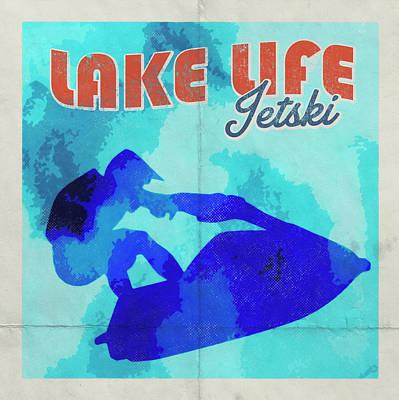 Animal Paintings David Stribbling - Lake Life Jet Ski by Brandi Fitzgerald