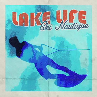 Animal Paintings David Stribbling - Lake Life Ski Natique by Brandi Fitzgerald