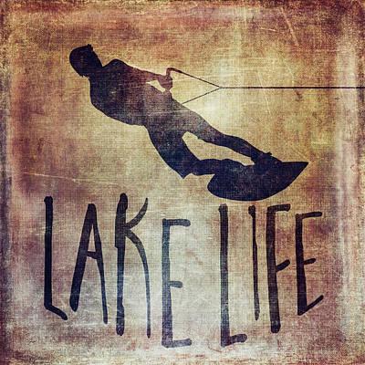 Animal Paintings David Stribbling - Lake Life - Wake Surf by Brandi Fitzgerald