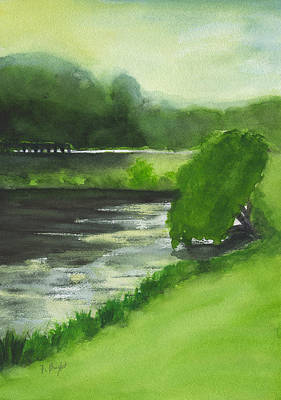 Painting - Lake Mayer Late Morning by Frank Bright