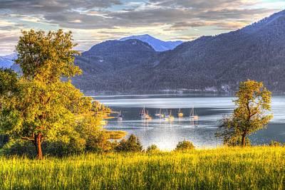 Wilderness Camping - Lake Mondsee Austria View by David Pyatt
