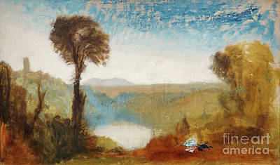 Red Roses - Lake Nemi - Remastered by William Turner