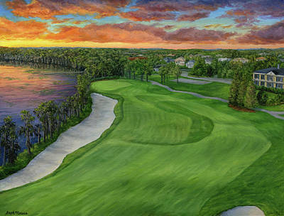 Painting - Lake Nona by Steph Moraca