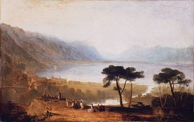 Keith Richards - Lake of Geneva from Montreux 1810 by JMW Turner 1775 1851 by Artistic Rifki