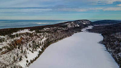 Priska Wettstein Pink Hues - Lake of the Clouds in Michigan. by Eldon McGraw