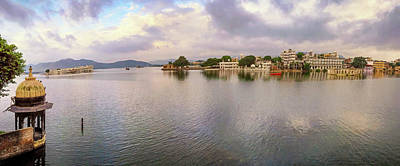 Whats Your Sign - Lake Pichola Panorama - Udaipur - India by Tony Crehan
