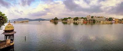 Miles Davis - Lake Pichola Panorama - Udaipur - India by Tony Crehan