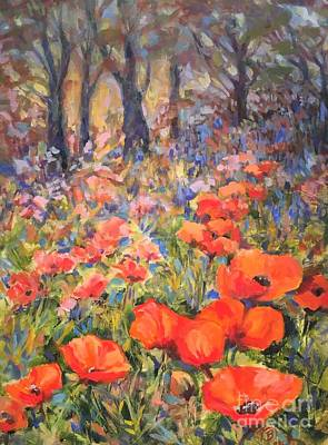 Anchor Down - Lake Placid Poppies by B Rossitto