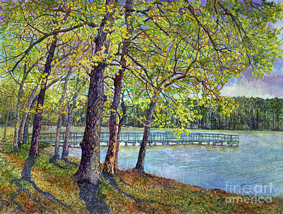 Tool Paintings - Lake Raven in Spring, Huntsville State Park by Hailey E Herrera
