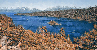 Katharine Hepburn - Lake Tahoe - 24 by AM FineArtPrints