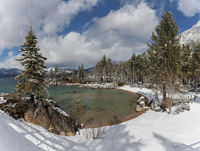 Photograph - Lake Tahoe Cove in Winter by Cliff Wassmann
