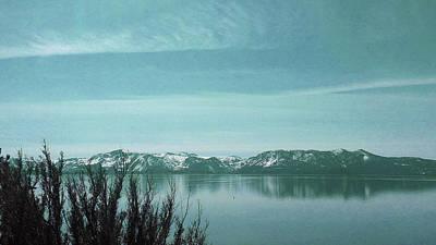 Surrealism Digital Art - Lake Tahoe Winter - Surreal Art by Ahmet Asar by Celestial Images