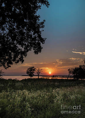 Winter Animals Rights Managed Images - Hiking Lake Texoma Sunset Royalty-Free Image by Robert Frederick