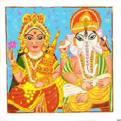 Thomas Kinkade Royalty Free Images - Lakshmi Ganesh  Royalty-Free Image by Mandakini Chakravarthi