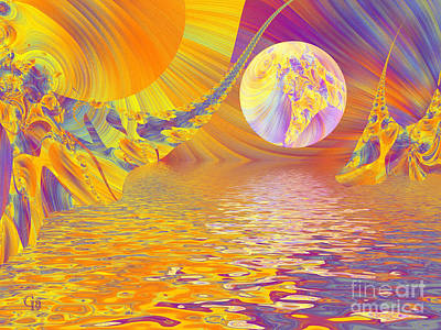 Surrealism Digital Art Rights Managed Images - Landscape From Another World Royalty-Free Image by Galina Lavrova