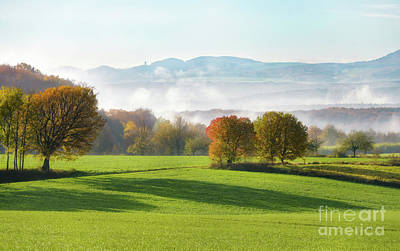 Photograph - Landscape in Westerwald by Katho Menden