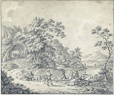 Pittsburgh According To Ron Magnes - Landscape with a boat in which a shepherd with his flock Jurriaan Andriessen attributed to 1755 - 18 by Artistic Rifki
