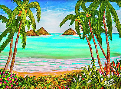 Ballerina Art - Lanikai Beach Oahu Hawaii #358 by Donald K Hall