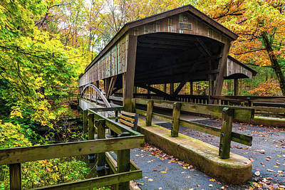 Photograph - Lantermans Covered Bridge by Sebastian Musial