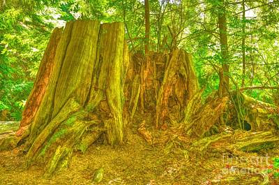 Mellow Yellow - Large Tree Stump by Joe Ng