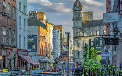 Photograph -  Dublin Evening by Marcy Wielfaert