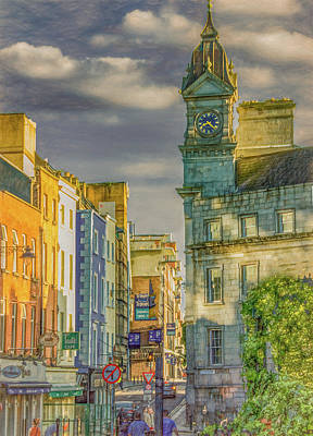 Photograph - Late Afternoon in Dublin, Vertical by Marcy Wielfaert