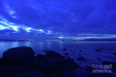 Royalty-Free and Rights-Managed Images - Late Autumn Twilight Over English Bay by Terry Elniski