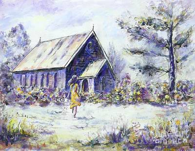 Painting - Late for Summer Evensong by Ryn Shell