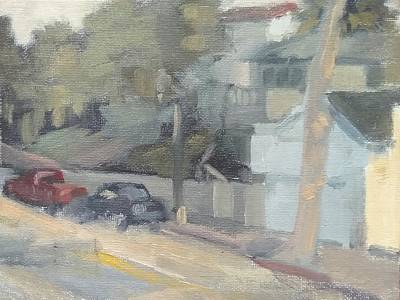Painting - Late In The Day On Mermaid Street, Laguna Beach  by Curtis Green