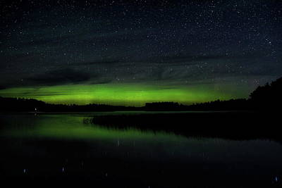 All American - Late Summer Aurora Over Gilmore Lake by Dale Kauzlaric