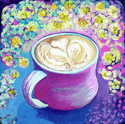 Royalty-Free and Rights-Managed Images - Latte Love by Jennifer Lommers