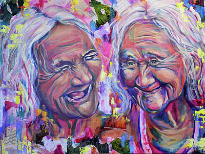 Painting - Laughter in Creases by Christina Carmel