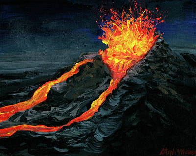 Painting - Lava Fountain by Steph Moraca