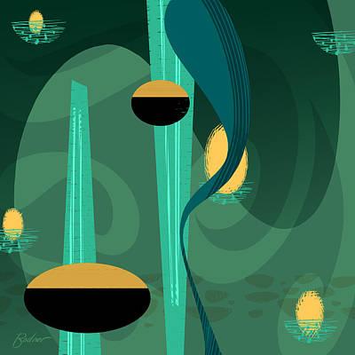 Digital Art - Lava Lamp by Alan Bodner