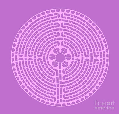 Drawings Royalty Free Images - Lavender Labyrinth Royalty-Free Image by Unknown